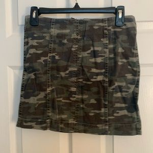Camo Free People mini skirt